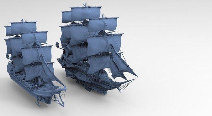 Manowar Fantasy Ship with Frigate Ship
