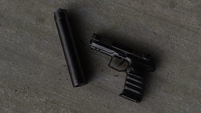 Russian self loading pistol Udav with silencer