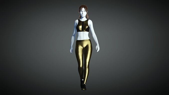 Cyberpunk - Sports Activewear Clothing Set - Gold and Black