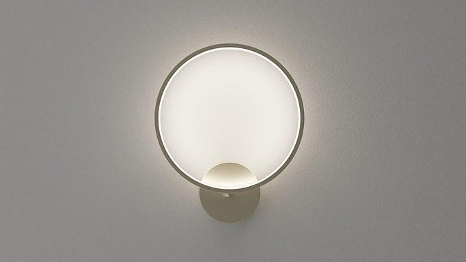 Golden circle wall lamp