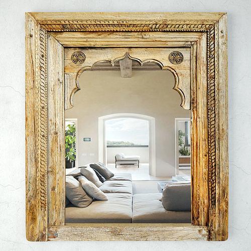 Antique Raja Window Mirror