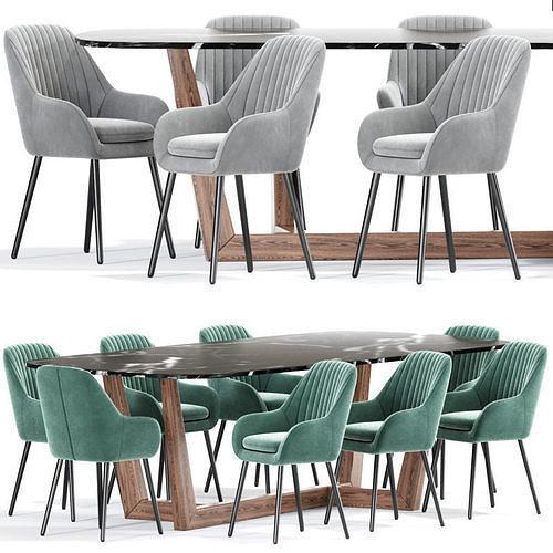 Memphis And Bonaldo Dining Table Chair