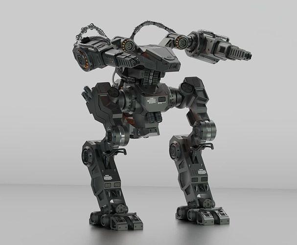 3D Sci-Fi Mecha Pack X2