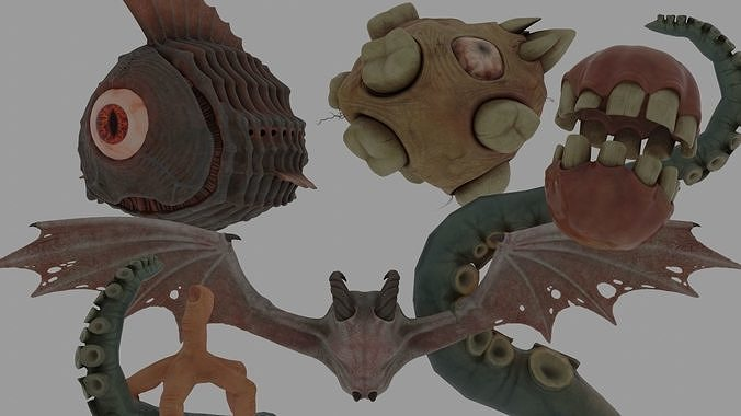 Eldritch Abominations PBR Model Pack