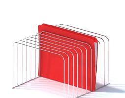 wire frame file organizer 3d model