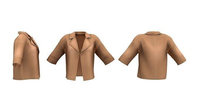 Ladies One Button Short Coat