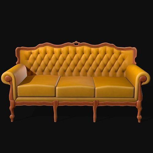 Sofa Antique Stylized