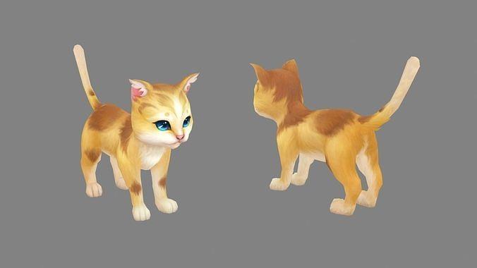 Cartoon Orange Cat  - Yellow Cat