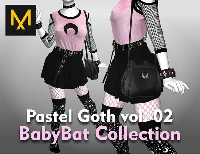 Pastel Goth Outfit vol 02  BabyBat Collection