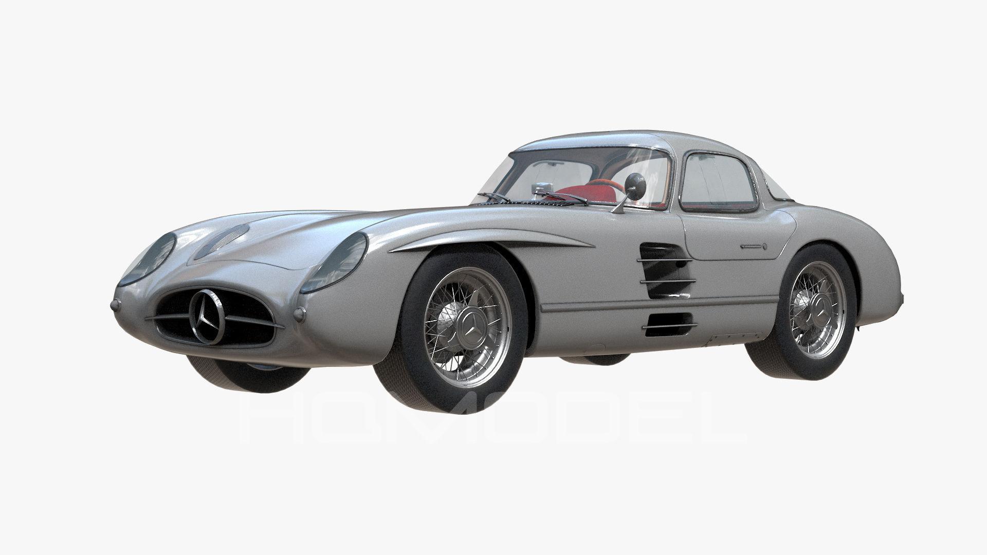 3d model mercedes benz slr 300 amg pbr vr ar low poly for Mercedes benz bentonville ar