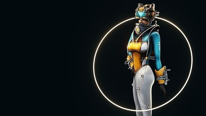 Sci-Fi Scout Girl
