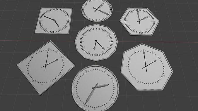 Clock - Geometry nodes