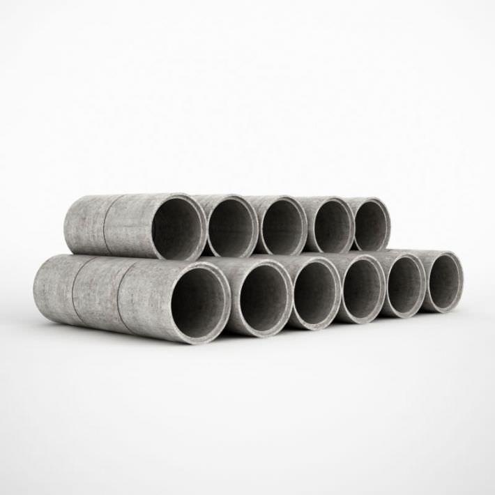 Grey Concrete Pipes