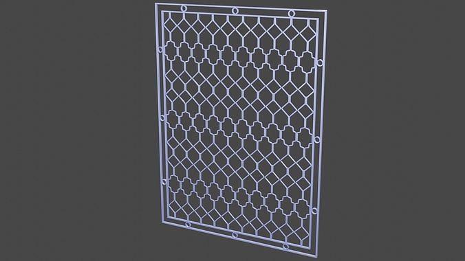 3D Purple Steel Window Trellis Ornaments