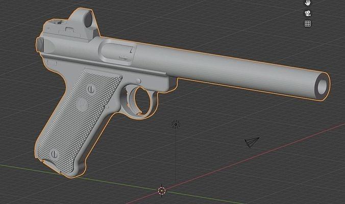 Ruger MK IV with Integral Suppressor