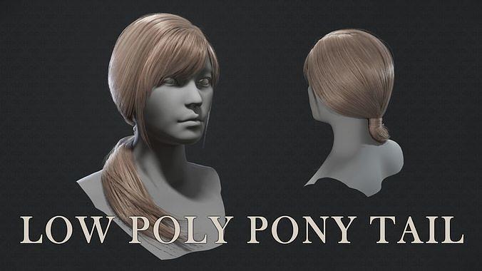 Low poly pony tail