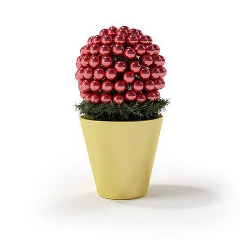 flower pot pine 3d model obj 1