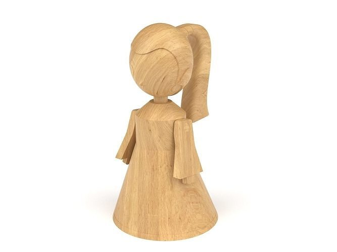 Wooden toy girl 02