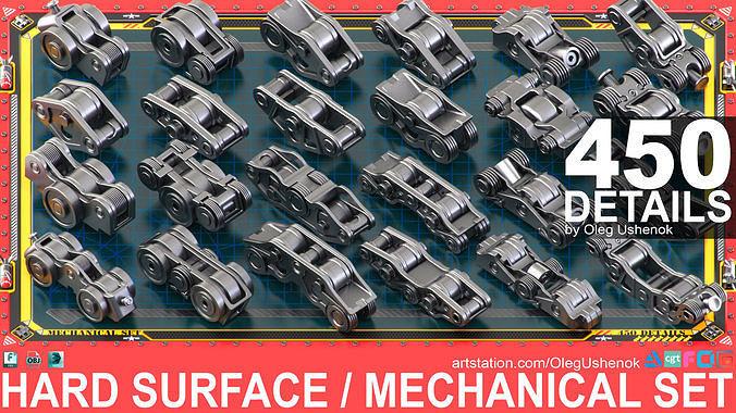 Sci-Fi Hard Surface Mechanical KITBASH 450 DETAILS