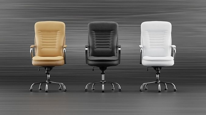 Realistic office chair with multiple colors Low-poly