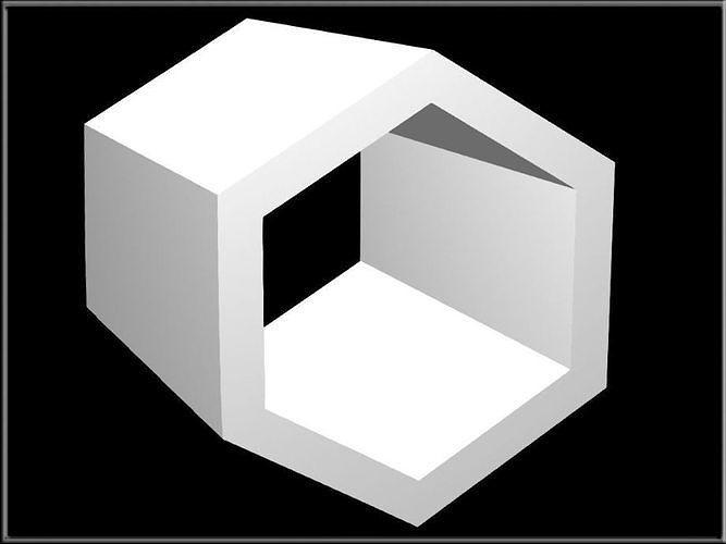 Hexagon Hollowed
