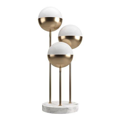 Glass Table Lamp Triple Globe by Loft-Concept