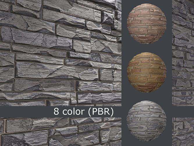 Decorative stone wall 8 colors set