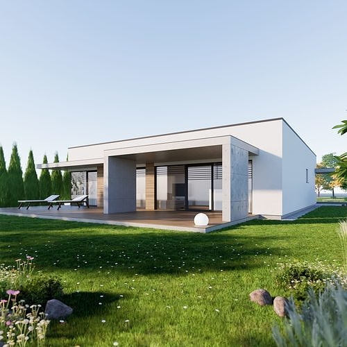 Bungalow 8 - Created with fully parametric Revit Families