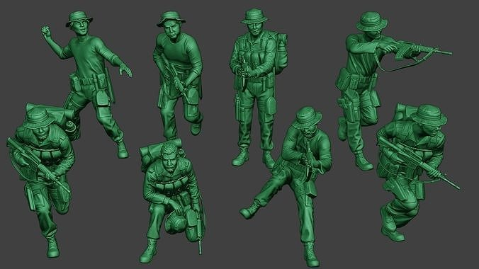 Modern Jungle Soldiers MJS1 Pack 1