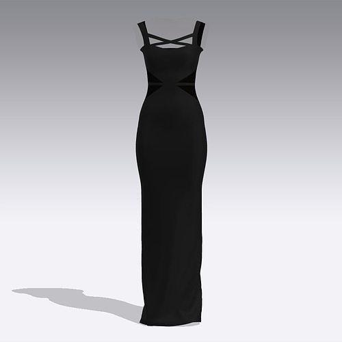 dress black matte