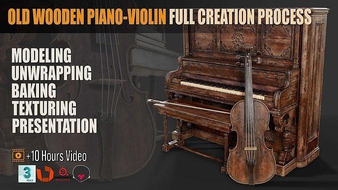 Old Wooden PianoViolin Full Creation Process