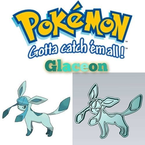 Amazing Pokemon Glaceon Cookie Cutter Stamp Cake Decorating