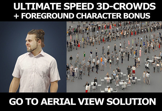 3d crowds and Foreground Casual Man Summer Keen Walking Shorts