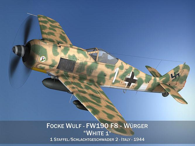 Focke Wulf - FW190 F8 - White 1