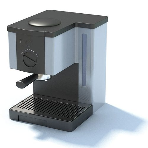 Stainless Espresso Coffee Maker 3d Model Max