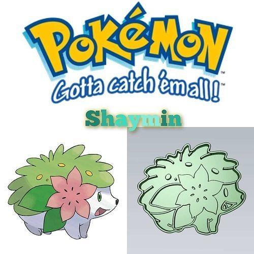 Amazing Pokemon Shaymin Cookie Cutter Stamp Cake Decorating
