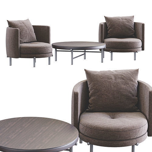 Torii Table End Chairs By Minotti