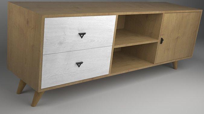 TV Table free 3D Model