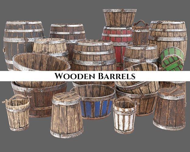 Medieval Wooden Barrels