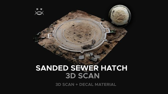 Sanded sewer hatch