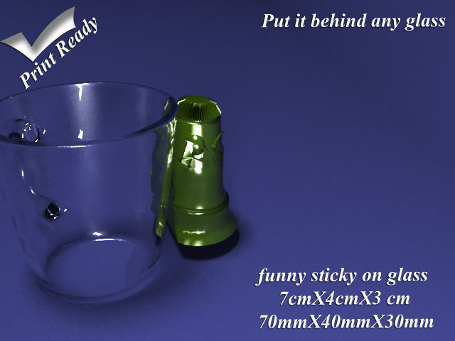 Funny Sticky on Glass