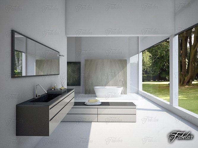 bathroom 3d model max obj fbx c4d mat 1