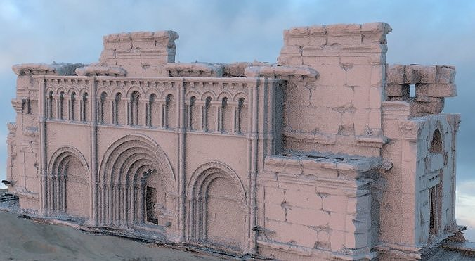 Fantasy architecture entrance