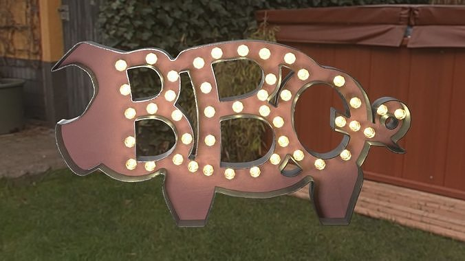 BBQ The Pig Sign