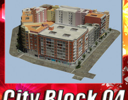 low-poly city block 04 3d asset