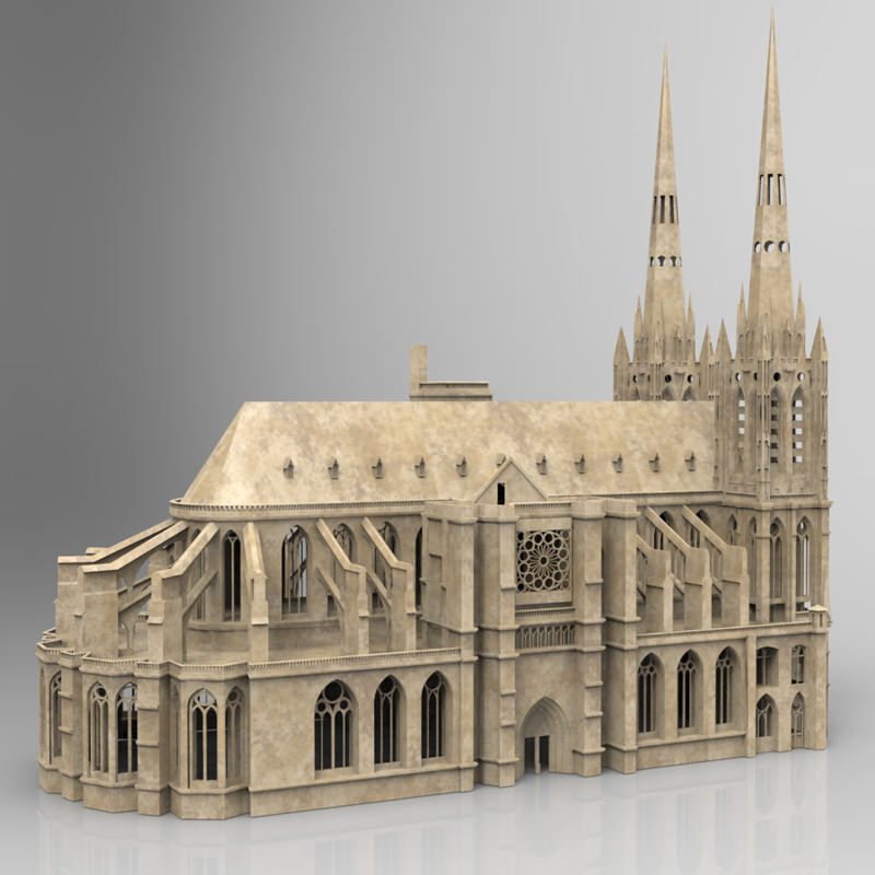 Clermont cathedral 3d model max obj mtl pdf for Furniture stores in cathedral city