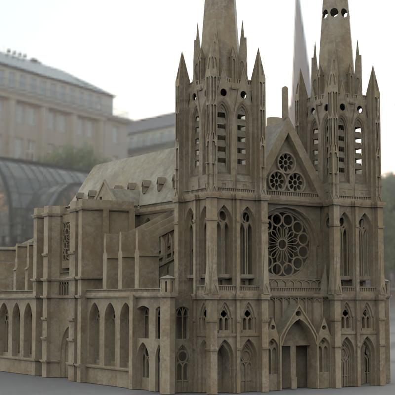 Clermont Cathedral 3d Model Max Obj Fbx Stl Mtl Pdf 1