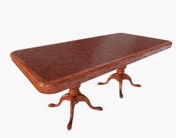 mahogany dining table 3d model