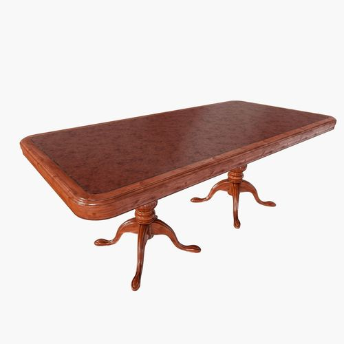 Mahogany dining table 3d cgtrader workwithnaturefo