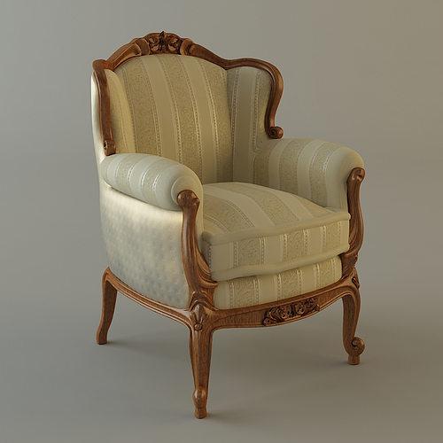 Antique Armchair 3D model - Antique Armchair Ornate 3D Model CGTrader